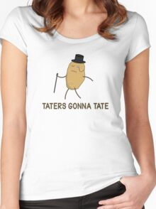 Haters Gonna Hate and Taters Gonna Tate Women's Fitted Scoop T-Shirt