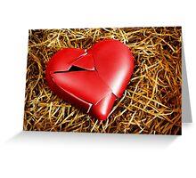 Broken Heart Greeting Card