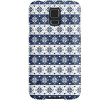 Navy Blue Snowflakes Christmas Pattern  Samsung Galaxy Case/Skin