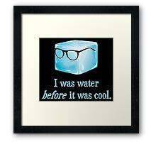 Hipster Ice Cube Was Water Before It Was Cool Framed Print