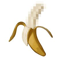 Dirty Censored Peeled Banana Photographic Print