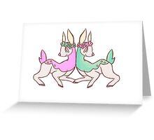 heavy metal deerling Greeting Card