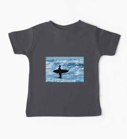 Surfer Silhouette Baby Tee