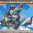 Cool Teal Brown Frog With Spraying Cans by Mythos57