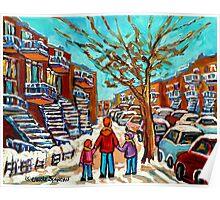 PAINTINGS OF CANADIAN WINTER SCENES URBAN CITY SCENES CAROLE SPANDAU Poster