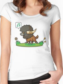 Bouffalant Women's Fitted Scoop T-Shirt