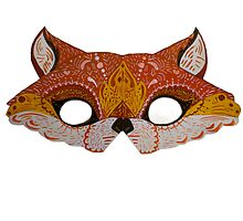 Upcycled Fox Mask by apcomfort
