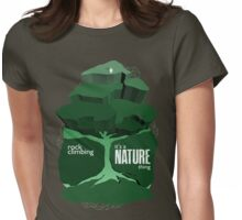 Rock Climbing - It's a Nature Thing in Green Womens Fitted T-Shirt