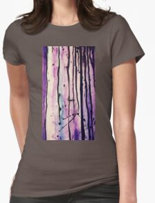 Dripping painting Womens Fitted T-Shirt