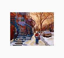 CANADIAN URBAN SCENES CANADIAN WINTER CITY ART PAINTINGS CAROLE SPANDAU Unisex T-Shirt