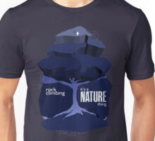 Rock Climbing - It's a Nature Thing in Purple Unisex T-Shirt