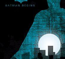 Batman Begins inspired print by graphicninja