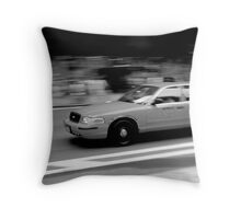 New York Taxi Throw Pillow
