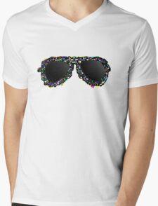Aviators Black Mens V-Neck T-Shirt