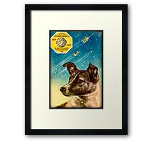 Laika the Sputnik 2 Russian Space Dog! Framed Print
