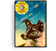 Laika the Sputnik 2 Russian Space Dog! Canvas Print