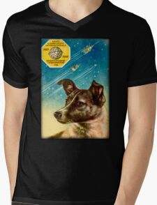 Laika the Sputnik 2 Russian Space Dog! Mens V-Neck T-Shirt
