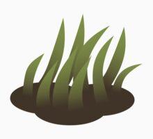 Glitch Firebog Land grass solid 5 Kids Tee