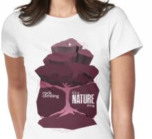 Rock Climbing - It's a Nature Thing in Red Womens Fitted T-Shirt