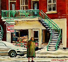 FAMOUS CANADIAN PAINTINGS BY ARTISTS OF CANADA WINTER URBAN SCENES CAROLE SPANDAU by Carole  Spandau