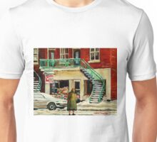 FAMOUS CANADIAN PAINTINGS BY ARTISTS OF CANADA WINTER URBAN SCENES CAROLE SPANDAU Unisex T-Shirt