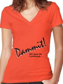Dammit Women's Fitted V-Neck T-Shirt