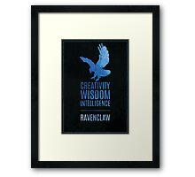 Harry Potter Inspired Ravenclaw House print Framed Print