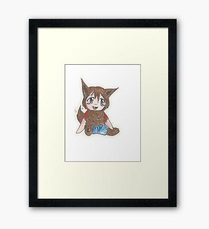 chibi werewolf Framed Print