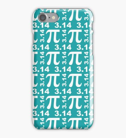 Happy Pi Day - Teal iPhone Case/Skin