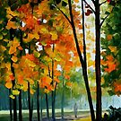 Hot Noon In The Forest — Buy Now Link - www.etsy.com/listing/210893708 by Leonid  Afremov