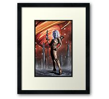 Retro Robot Painting 002 Framed Print