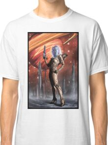 Retro Robot Painting 002 Classic T-Shirt