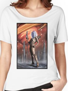 Retro Robot Painting 002 Women's Relaxed Fit T-Shirt