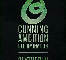 Harry Potter Inspired Slytherin House print by graphicninja