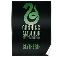 Harry Potter Inspired Slytherin House print Poster