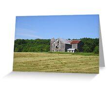 Barn in field Greeting Card