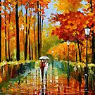Autumn Rain — Buy Now Link - www.etsy.com/listing/210891092 by Leonid  Afremov