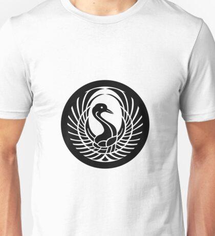 BLACK CIRCLE TRIBAL SWAN Unisex T-Shirt
