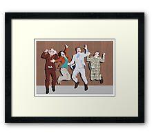 Anchorman Flash Framed Print