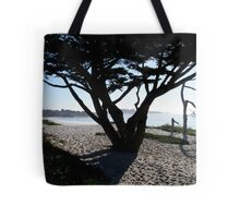 Cypress Tree Carmel Beach Tote Bag
