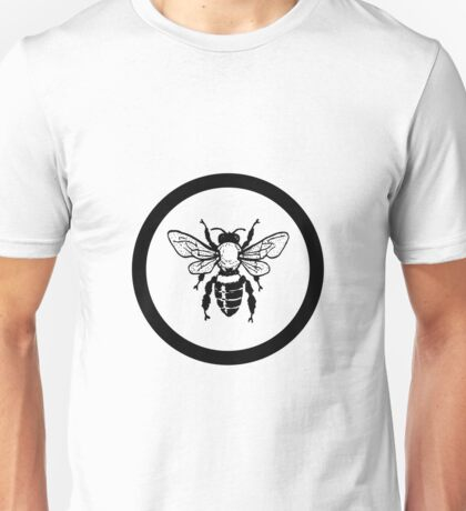 BLACK CIRCLE HONEY BEE Unisex T-Shirt