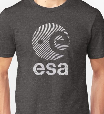 European Space Agency Vintage White V02 Unisex T-Shirt