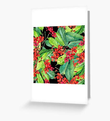 Beautiful patterns of tropical flowers Greeting Card