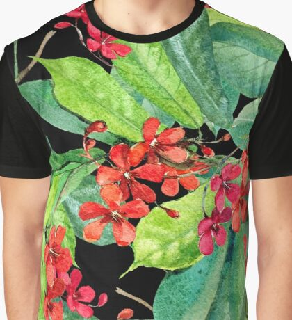Beautiful patterns of tropical flowers Graphic T-Shirt