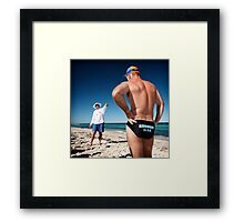 White Pointer Framed Print