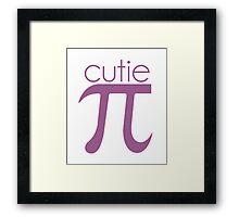 Cute Cutie Pie Pi Framed Print
