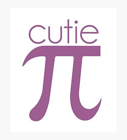Cute Cutie Pie Pi Photographic Print