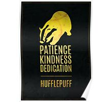 Harry Potter Inspired Hufflepuff House print Poster