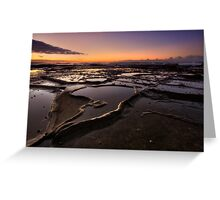 Bar Beach Rock Platform 4 Greeting Card