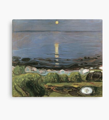 Edvard Munch - Summer Night By The Beach Canvas Print